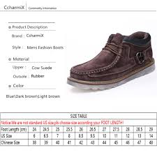 ccharmix men safety working boots cow suede winter autumn mens