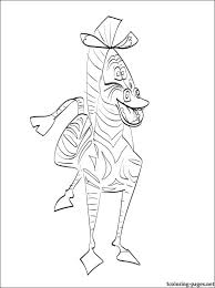 Marty Zebra Madagascar Coloring Coloring Pages