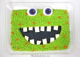 monster sheet cake free video tutorial my cake