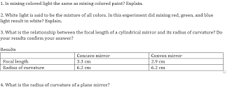 1 is mixing colored light the same as mixing colo chegg com