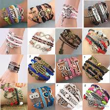 bracelet woven images Diy fashion charm bracelets women retro leather woven bracelet jpg