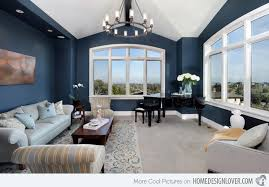 blue accent wall 15 lovely living room designs with blue accents home design lover