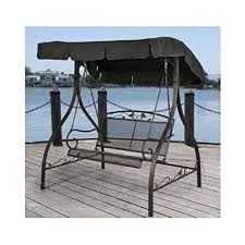 Deck Canopy Awning Amazon Com Outdoor Porch Swing Deck Furniture With Adjustable