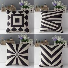 ou jeter un canapé vintage noir beige géométrique jeter taie d oreiller draps en