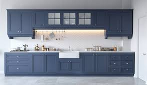 blue gray kitchen cabinets 30 gorgeous grey and white kitchens that get their mix right blue