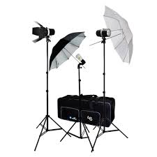 Photography Lighting Kit 160w Flash Strobe Photo Lighting Kit With Aluminum Alloy Light