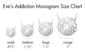 monogram pendants monogram necklace size guide evesaddiction jewelry