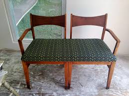make a settee bench from two chairs 6 steps with pictures