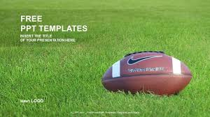 football field template for powerpoint american football sports