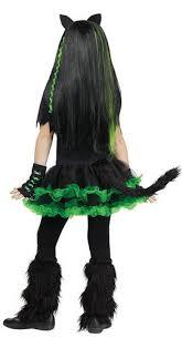 cool cat girls fancy dress halloween kitten kitty cyber goth kids
