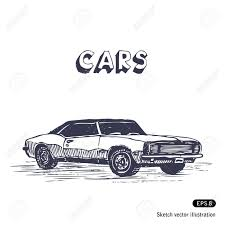 old muscle cars old muscle car hand drawn royalty free cliparts vectors and