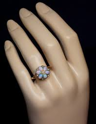 vintage opal engagement rings antique opal and diamond ring antique and vintage opal jewelry