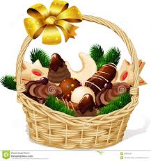 christmas cookie in basket royalty free stock photos image 35839238