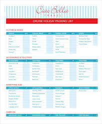 packing list template 14 free word pdf documents download