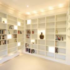 bookcases string lights and led on pinterest bookcase lighting in