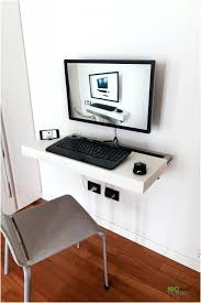 corner computer desk with keyboard tray very small computer desk minimalist floating and sliding desk by
