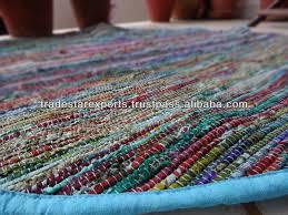 handmade chindi rug round handmade rug made from old saris many