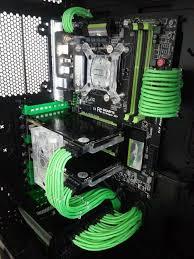 cable combs build log simply green corsair 750d sli gtx 760 rigid