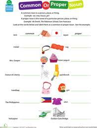 proper and common nouns worksheet worksheets