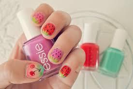 nail art nail design ideas colorful watermelon cherry motif cute