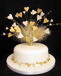 anniversary cake toppers 50th golden wedding anniversary cake topper this is a larg flickr