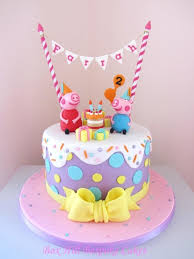 peppa pig birthday cakes best peppa pig birthday cake construction birthday cakes gallery
