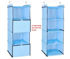 adona 4shelf hanging closet organizer include 2 drawer oxford