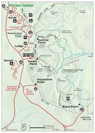 National Parks In Utah Map by File Nps Bryce Canyon Amphitheater Map Jpg Wikimedia Commons