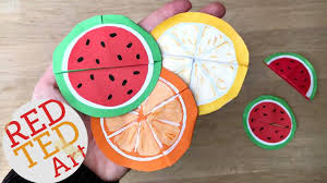 easy melon bookmarks summer origami u0026 paper crafts youtube