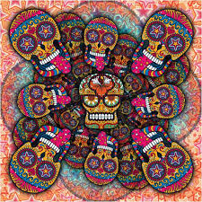 Day Of The Dead Bedding Queen Crazy Sugar Skull Carnival Style Bedding U2013 Sugar Skull Bedding