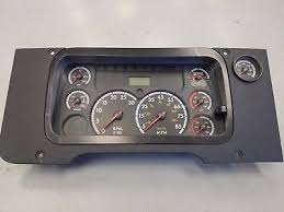 freightliner cascadia warning lights freightliner cascadia instrument dash gauge cluster pn a22 66236
