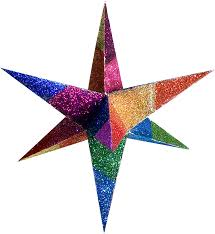 color moravian stars decorative 3d paper stars