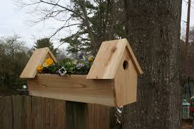 Planter S House by Cedar Double Bird House Planter 11 Steps With Pictures