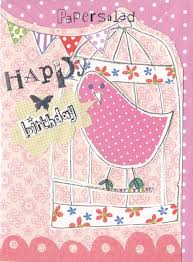 bird u0026 birdcage birthday card karenza paperie