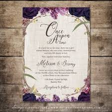 purple wedding invitations enchanted forest invitation purple wedding invitation fairy tale
