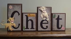 lion king nursery decor name blocks wood letter sign disney home