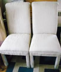 dining room chair fabric dining room white classic parson chairs for minimalist dining