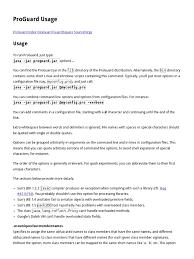 regexp quote character class proguard usage java programming language filename