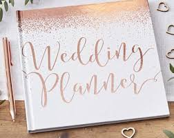 bridal planning book wedding planner book etsy