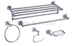 Bathroom Accessories Towel Racks by New Arrival Chrome Bathroom Accessories Set Towel Bar Glass Shelf