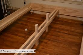 Wooden Bed Frame Parts Diy Stained Wood Raised Platform Bed Frame Part 1 Platform Bed