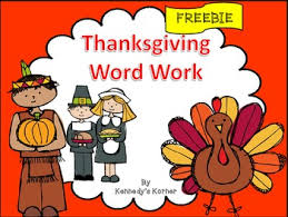 thanksgiving word work freebie happy thanksgiving by