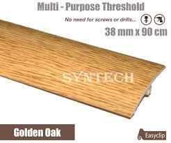 Laminate Flooring Door Threshold Golden Oak 38mm X 90cm Laminate Door Threshold Adjustable Height