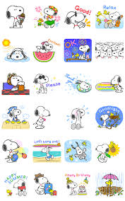 official stickers sweet summer snoopy animated stickers