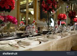 elegant dinner tables pics elegant dinner table stock photo 297225845 shutterstock
