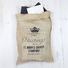 original personalised hessian wedding sack by sayitwithsam