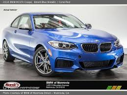 Bmw M235i Interior Estoril Blue Metallic 2016 Bmw M235i Coupe Coral Red Interior