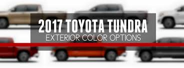 2017 toyota tundra exterior paint color options