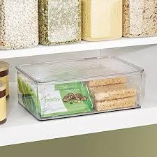 boite de cuisine interdesign 63132eu boîte empilable de cuisine plastique transparent