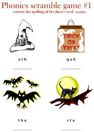 halloween worksheets for elementary kids